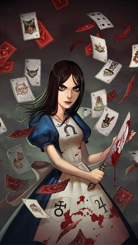 Alice: Madness Returns Mobiele Verticaal achtergrond