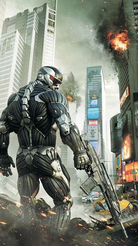 Crysis 2 Mobiele Verticaal achtergrond