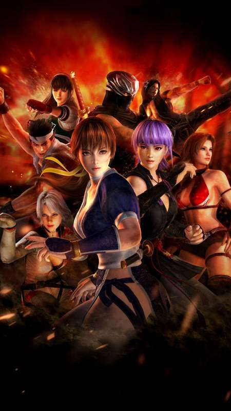 Dead or Alive 5 Mobiele Verticaal achtergrond