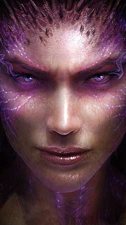 StarCraft 2: Heart of the Swarm Mobiele Verticaal achtergrond