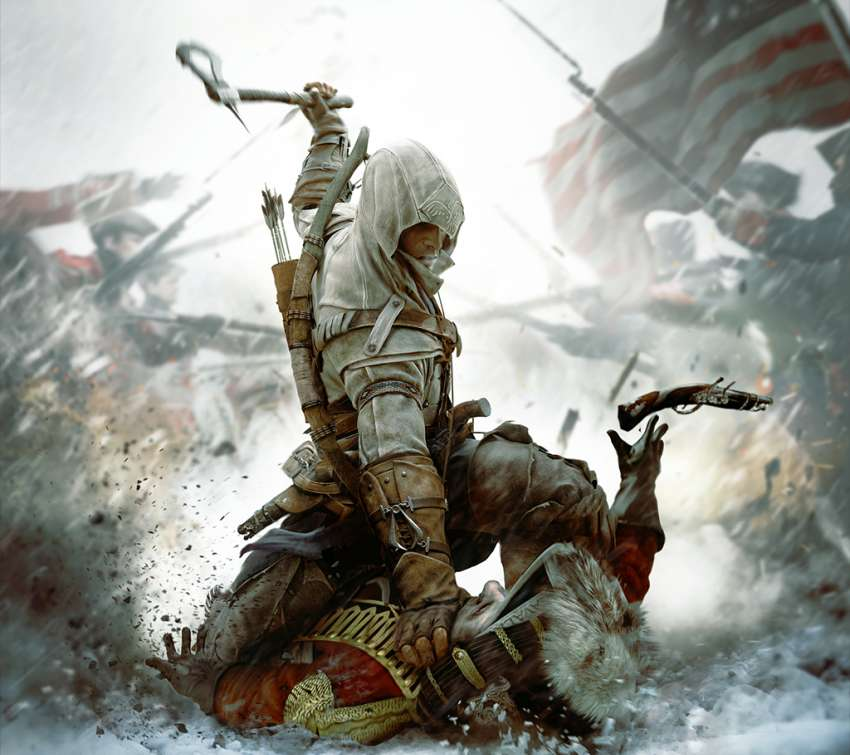 Assassin's Creed III Mobiele Horizontaal achtergrond