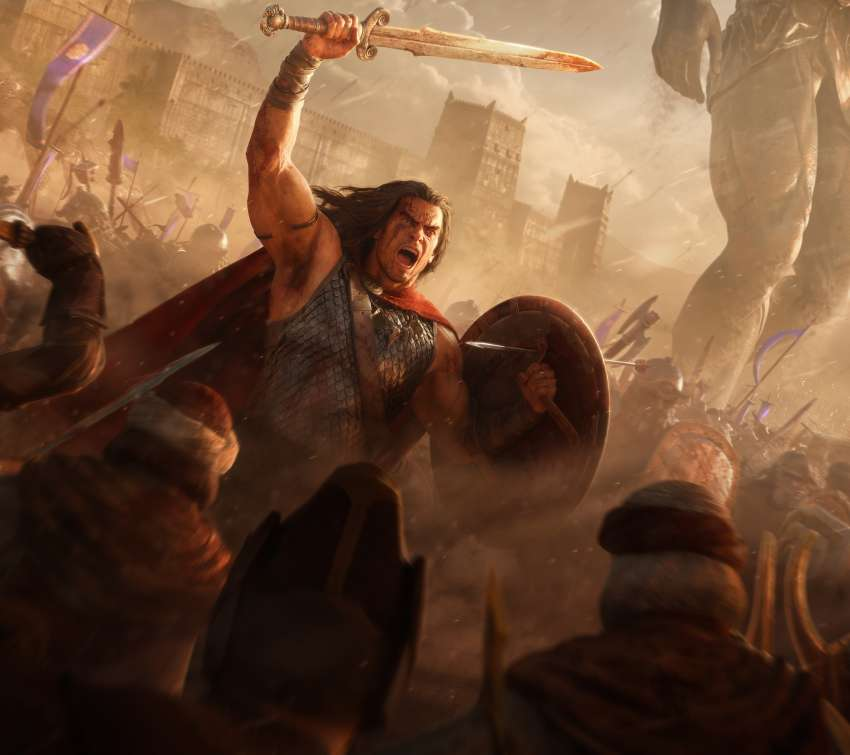 Conan Unconquered Mobiele Horizontaal achtergrond
