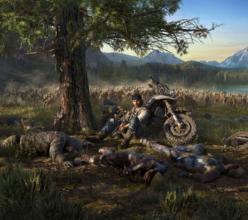 Days Gone Mobiele Horizontaal achtergrond