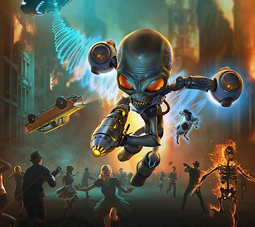 Destroy All Humans 2020 Mobiele Horizontaal achtergrond