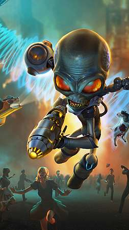 Destroy All Humans 2020 Mobiele Verticaal achtergrond