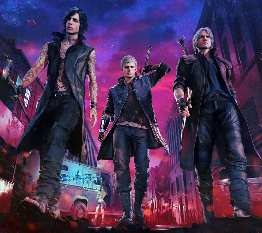 Devil May Cry 5 Mobiele Horizontaal achtergrond