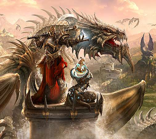 Dragon Eternity Mobiele Horizontaal achtergrond