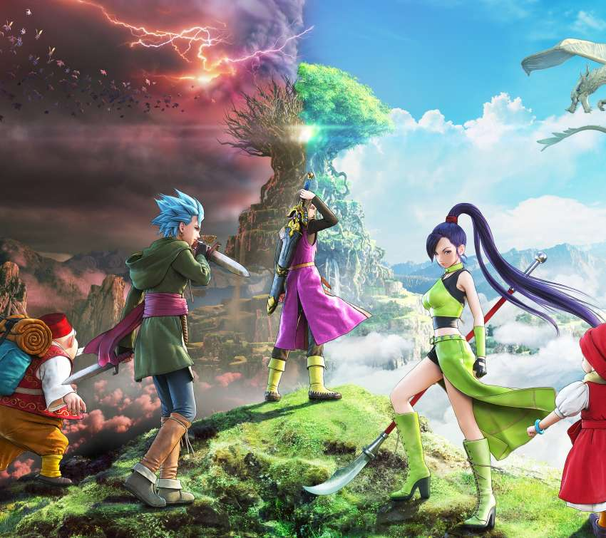 Dragon Quest XI: Echoes of an Elusive Age Mobiele Horizontaal achtergrond