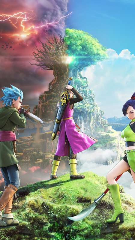 Dragon Quest XI: Echoes of an Elusive Age Mobiele Verticaal achtergrond