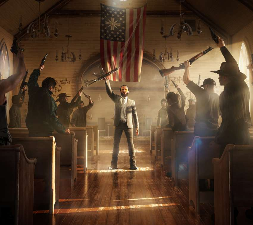 Far Cry 5 Mobiele Horizontaal achtergrond