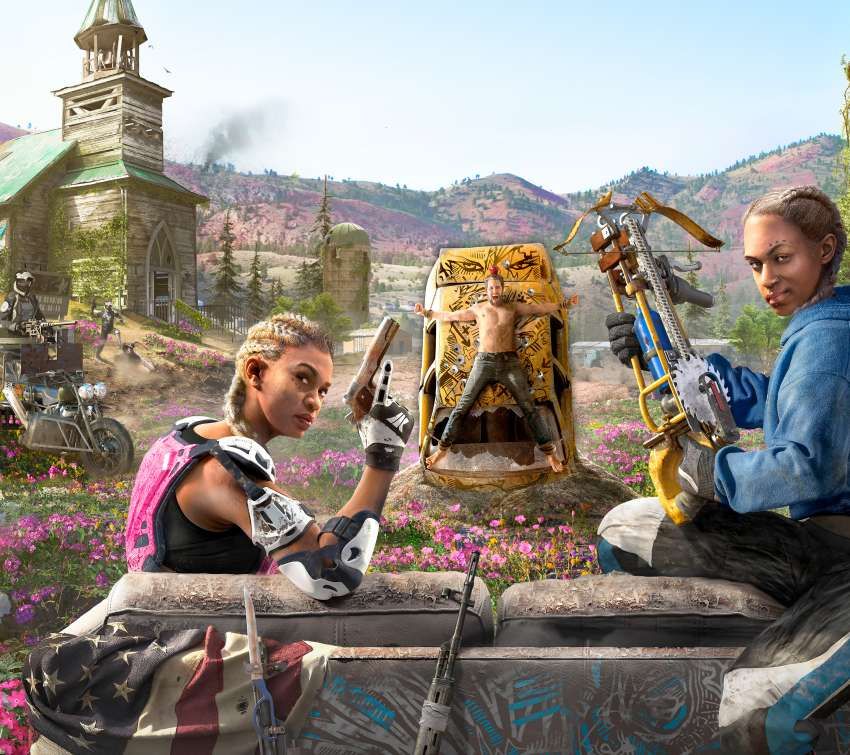 Far Cry New Dawn Mobiele Horizontaal achtergrond