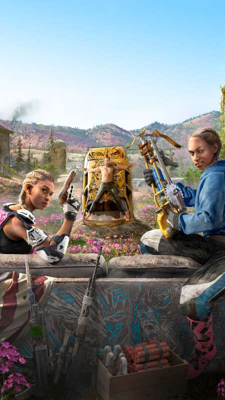 Far Cry New Dawn Mobiele Verticaal achtergrond