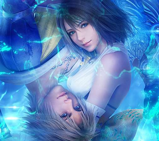 Final Fantasy X - X-2 HD Mobiele Horizontaal achtergrond