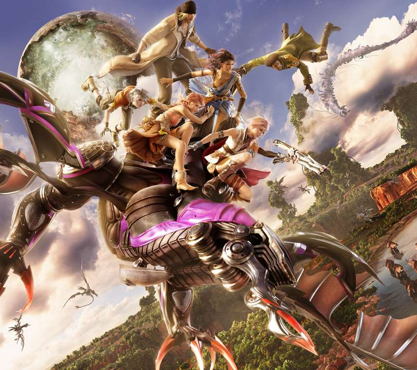 Final Fantasy XIII Mobiele Horizontaal achtergrond