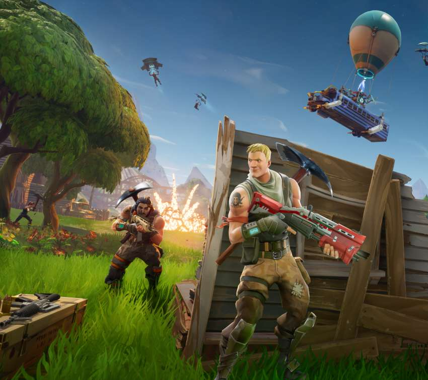 Fortnite Mobiele Horizontaal achtergrond