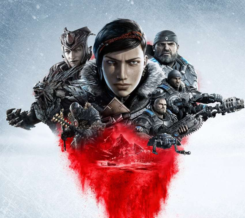 Gears 5 Mobiele Horizontaal achtergrond