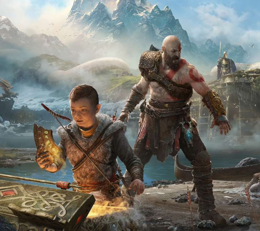 God of War 2017 Mobiele Horizontaal achtergrond