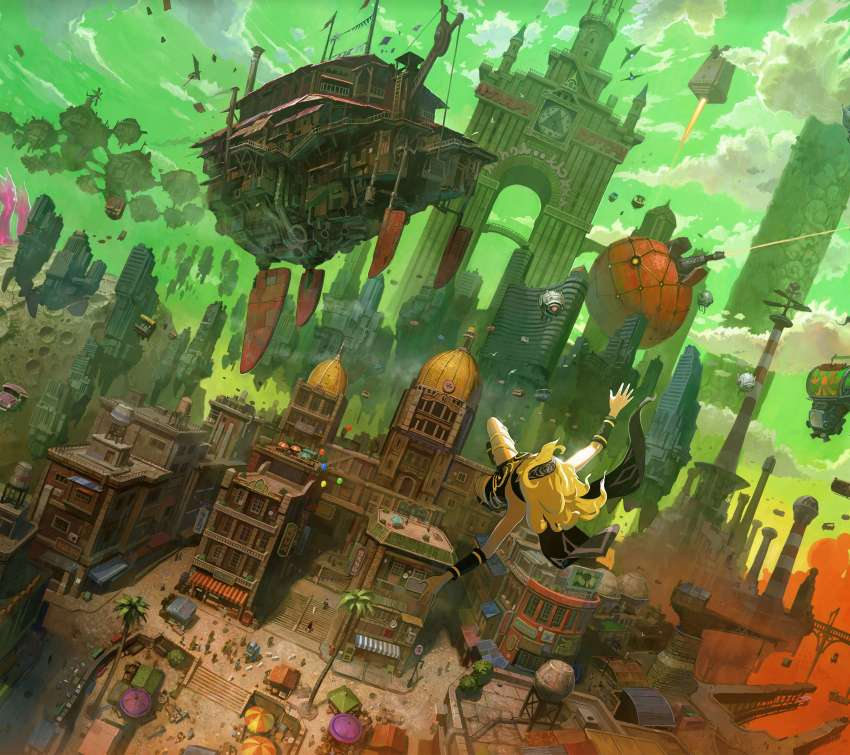 Gravity Rush Remastered Mobiele Horizontaal achtergrond