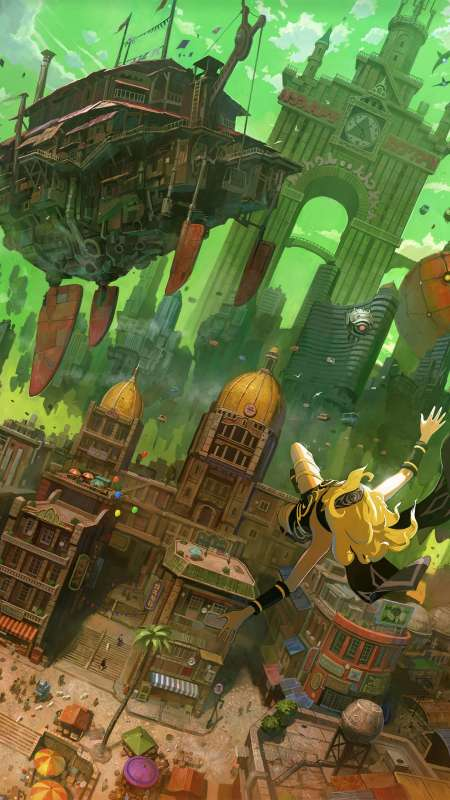 Gravity Rush Remastered Mobiele Verticaal achtergrond