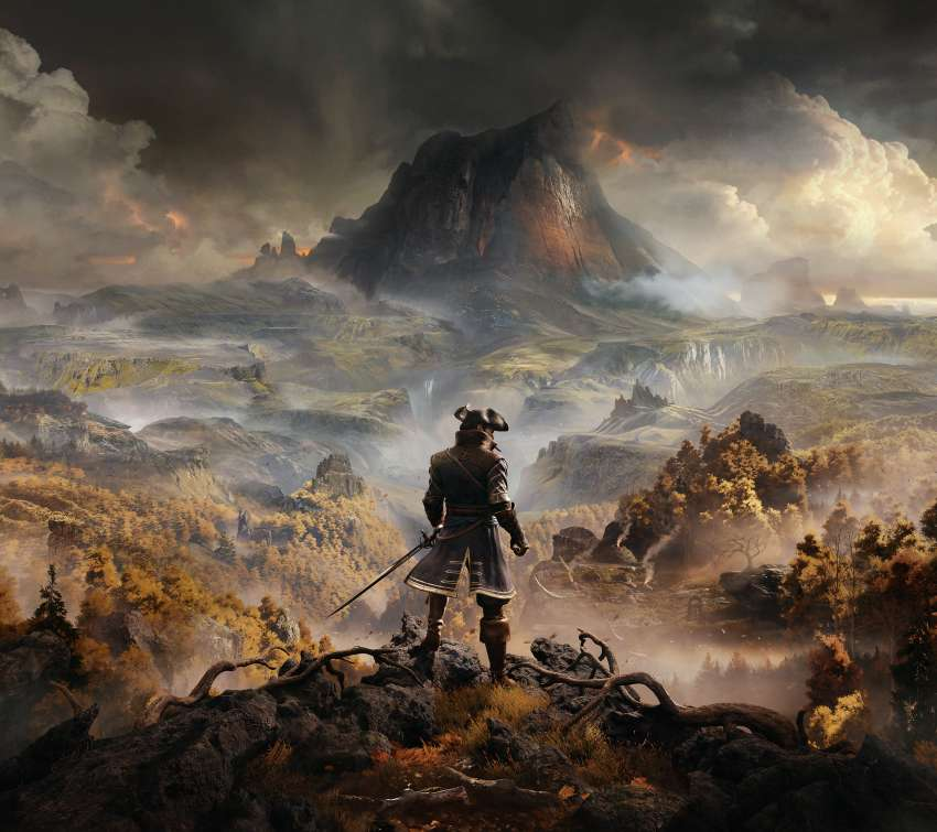 Greedfall Mobiele Horizontaal achtergrond