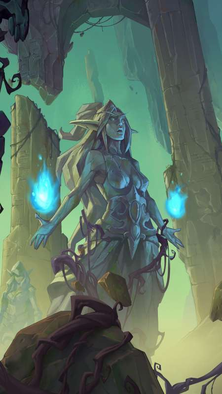 Hearthstone: Ashes of Outland Mobiele Verticaal achtergrond