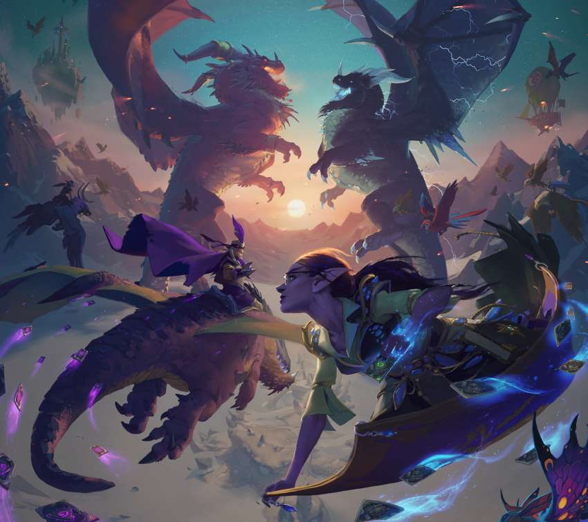 Hearthstone: Descent of Dragons Mobiele Horizontaal achtergrond
