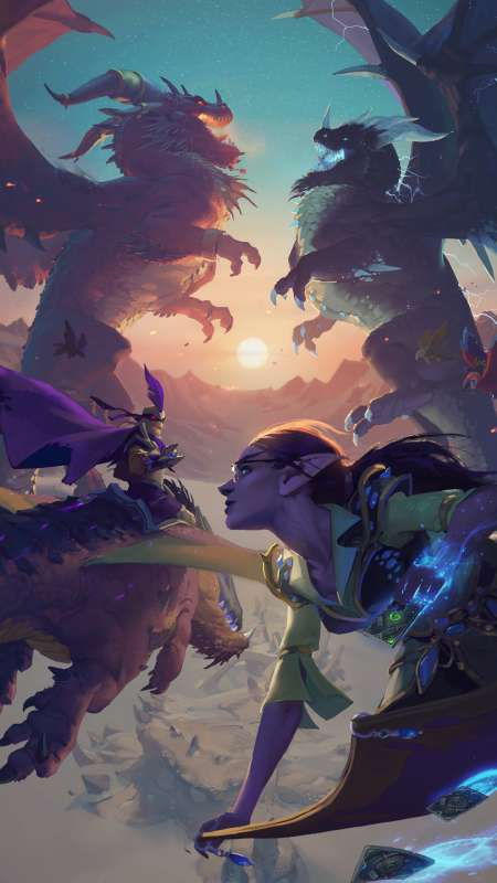 Hearthstone: Descent of Dragons Mobiele Verticaal achtergrond