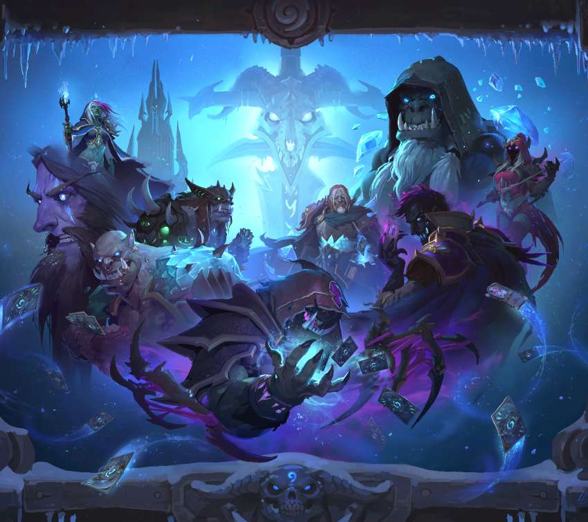 Hearthstone: Heroes of Warcraft - Knights of the Frozen Throne achtergrond