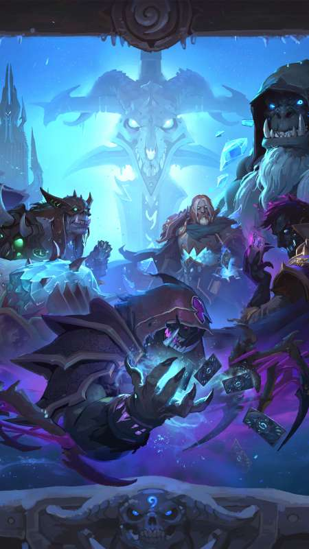 Hearthstone: Heroes of Warcraft - Knights of the Frozen Throne Mobiele Verticaal achtergrond