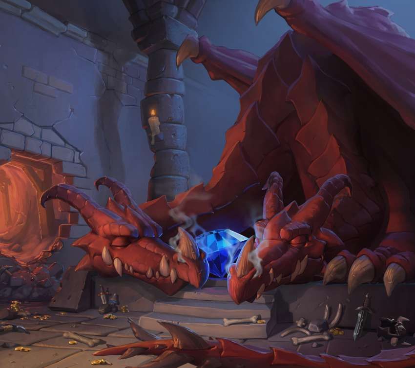 Hearthstone: Heroes of Warcraft - Kobolds & Catacombs Mobiele Horizontaal achtergrond