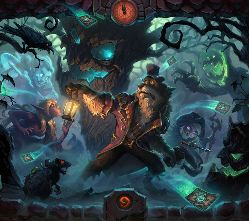 Hearthstone: Heroes of Warcraft - The Witchwood Mobiele Horizontaal achtergrond