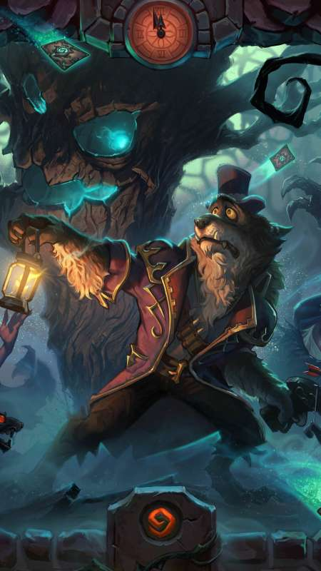 Hearthstone: Heroes of Warcraft - The Witchwood Mobiele Verticaal achtergrond