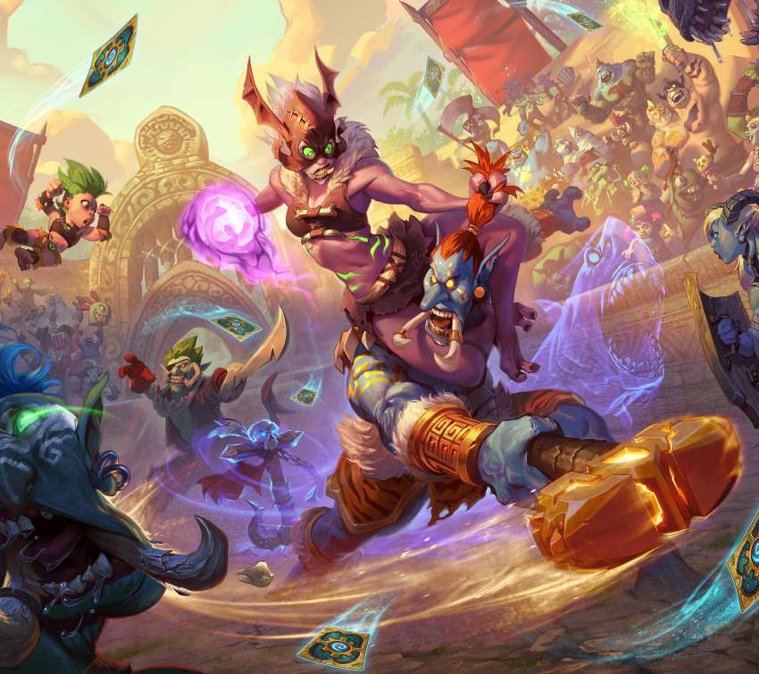 Hearthstone: Rastakhan's Rumble Mobiele Horizontaal achtergrond