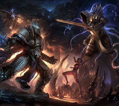 Heroes of the Storm fan art Mobiele Horizontaal achtergrond