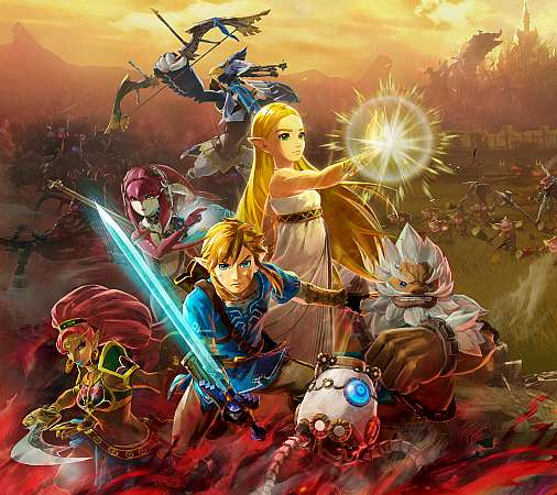 Hyrule Warriors: Age of Calamity Mobiele Horizontaal achtergrond