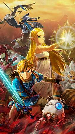 Hyrule Warriors: Age of Calamity Mobiele Verticaal achtergrond