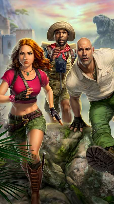 Jumanji: The Video Game Mobiele Verticaal achtergrond
