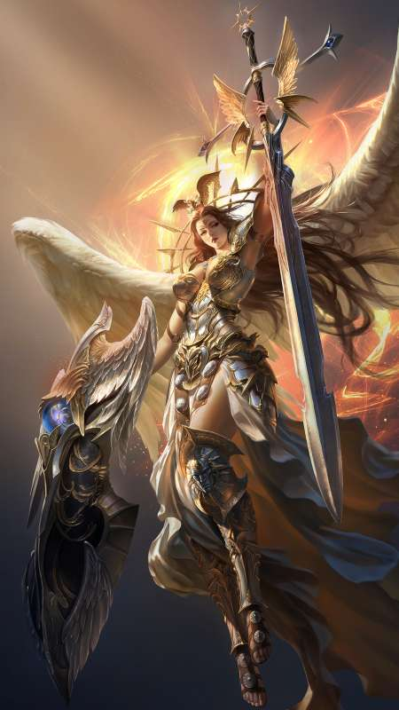 League of Angels 2 Mobiele Verticaal achtergrond