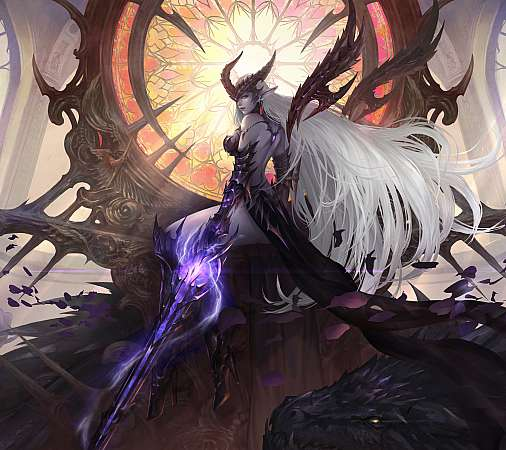 Lineage 2 Mobiele Horizontaal achtergrond