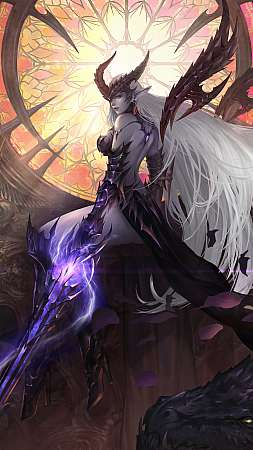 Lineage 2 Mobiele Verticaal achtergrond