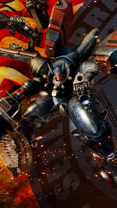 Metal Wolf Chaos XD Mobiele Verticaal achtergrond