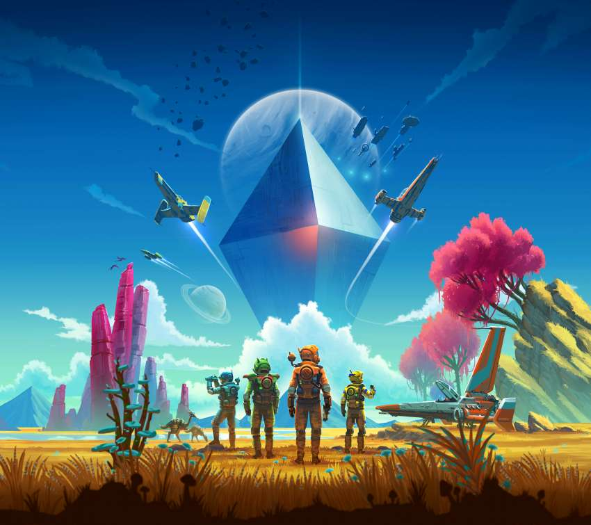 No Man's Sky Mobiele Horizontaal achtergrond