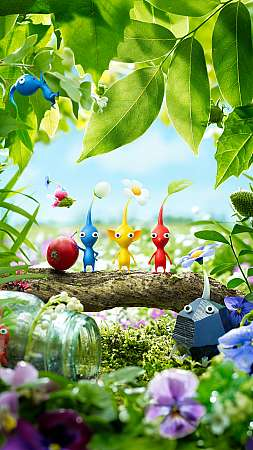 Pikmin 3 Mobiele Verticaal achtergrond