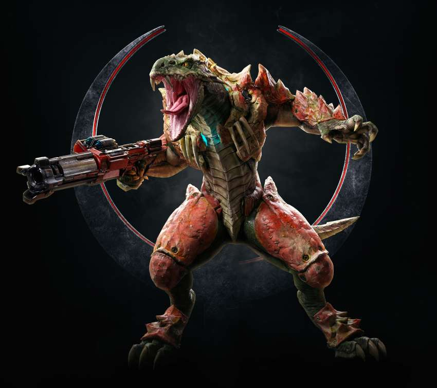 Quake Champions Mobiele Horizontaal achtergrond
