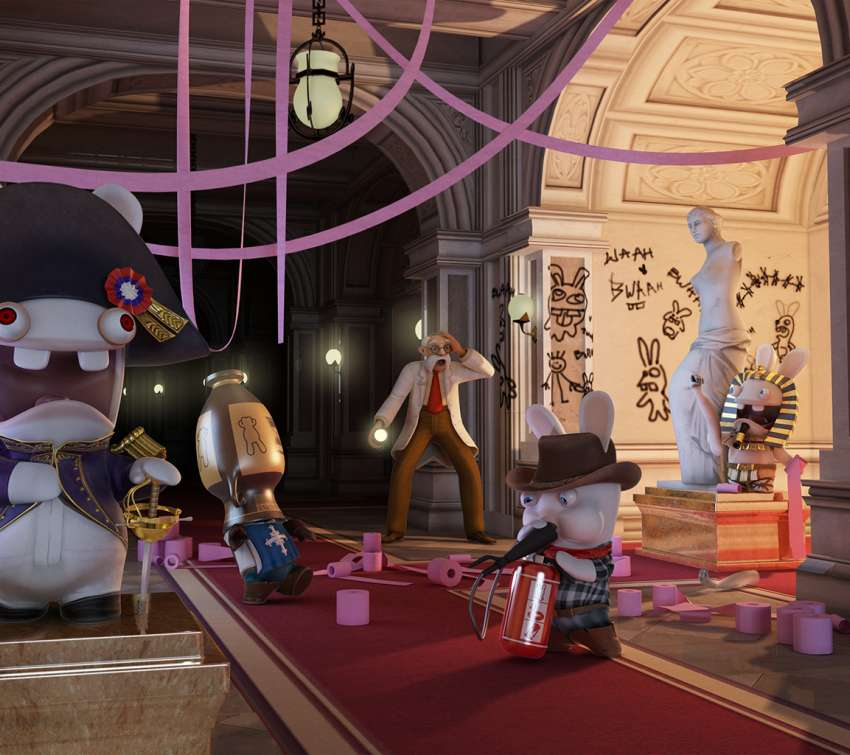 Raving Rabbids: Travel in Time achtergrond
