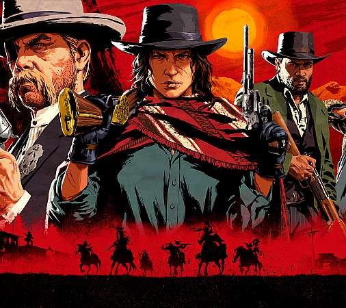 Red Dead Redemption 2 Mobiele Horizontaal achtergrond