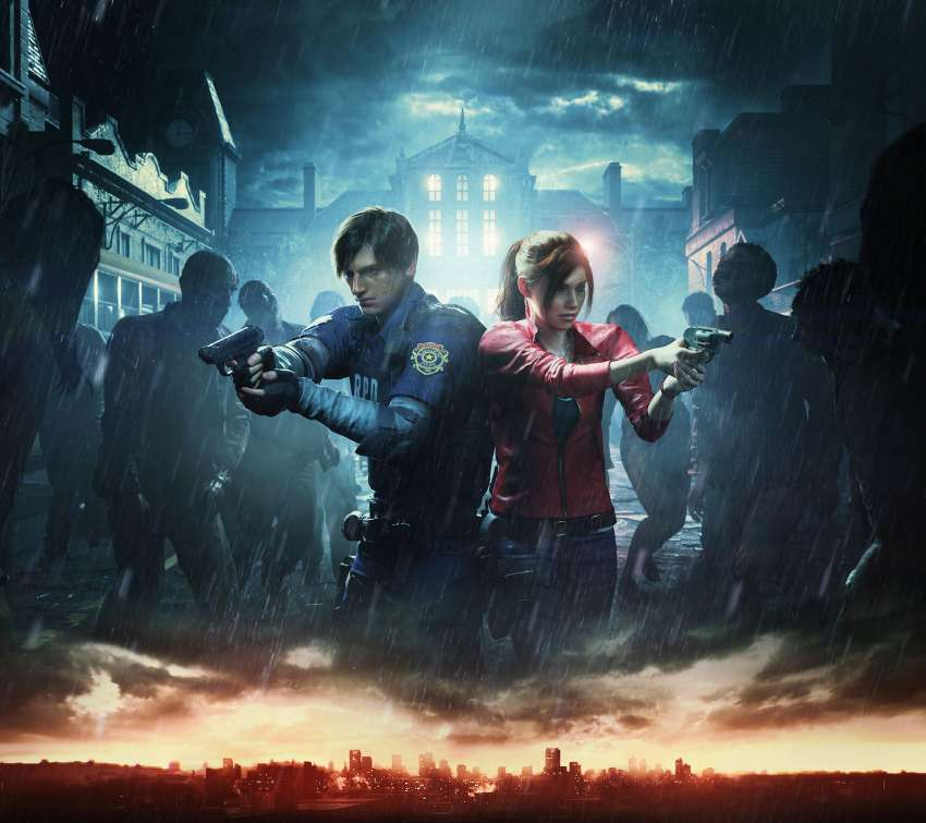 Resident Evil 2 Mobiele Horizontaal achtergrond