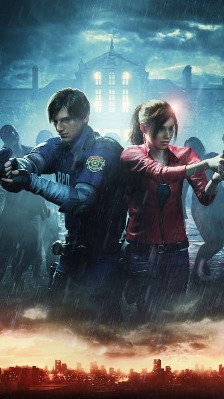 Resident Evil 2 Mobiele Verticaal achtergrond