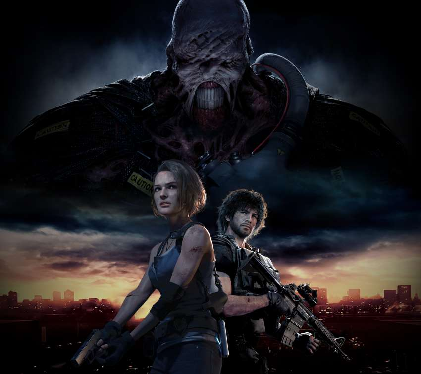 Resident Evil 3 2020 Mobiele Horizontaal achtergrond