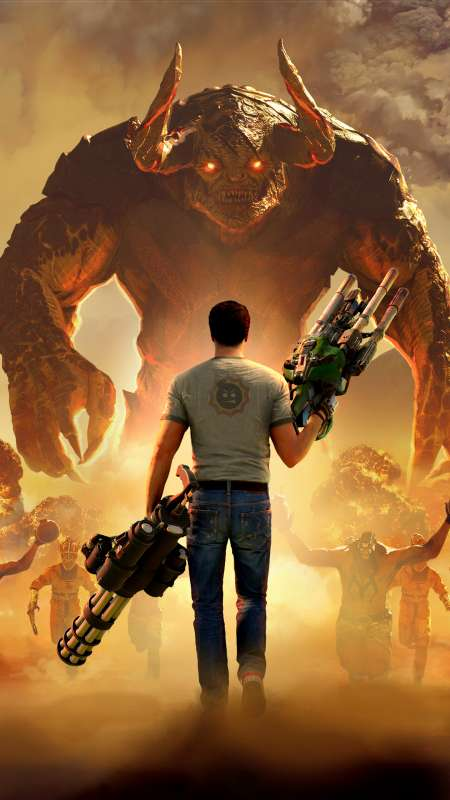 Serious Sam 4 Mobiele Verticaal achtergrond
